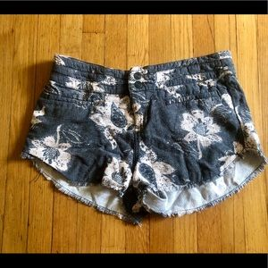 Free People 100% Cotton Floral Shorts